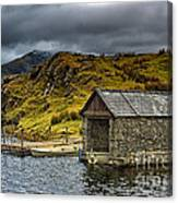 Dywarchen Boathouse Stormy Canvas Print