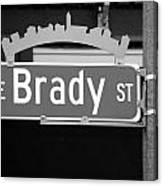 E Brady St Canvas Print