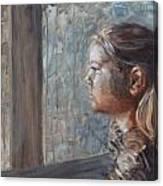 E In Sepia Tone Canvas Print