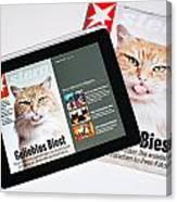 e-Magazine Canvas Print