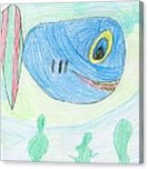 E' S Blue Fish Canvas Print