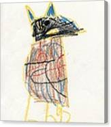 E's Crow Canvas Print