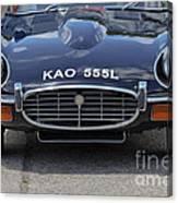 E Type Jaguar V12 Canvas Print