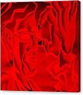 E Vincent Negative Red Canvas Print