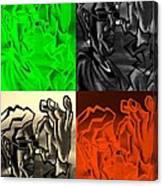 E Vincent Quad Colors Canvas Print
