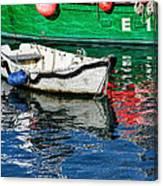 E17 Reflections - Lyme Regis Harbour Canvas Print