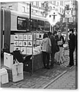 E85th. In Black And White Canvas Print