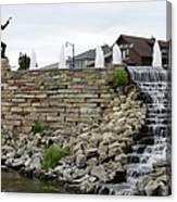Eagle Center Waterfalls Canvas Print
