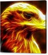 Eagle Glowing Fractal Canvas Print
