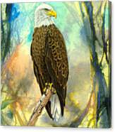 Eagle In Abstract Canvas Print