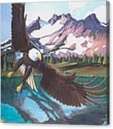 Eagle Oregon Lake Canvas Print