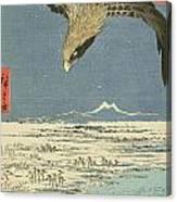 Eagle Over One Hundred Thousand Acre Plain At Susaki Canvas Print