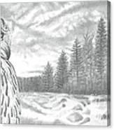 Eurasian Eagle-owl Canvas Print