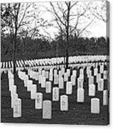 Eagle Point National Cemetery In Black And White Canvas Print