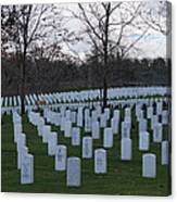 Eagle Point National Cemetery In Winter 1 Canvas Print