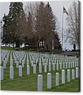 Eagle Point National Cemetery In Winter 2 Canvas Print