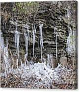 Eagle Rock Icicles 2 Canvas Print