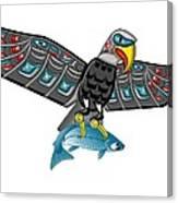 Eagle Salmon Totem Canvas Print