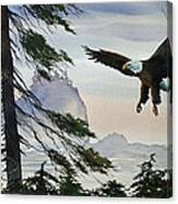 Eagle Wilderness Canvas Print
