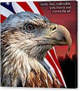 Eagle With Pledge Allegiance Canvas Print