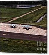 Eagles On The Ramp Canvas Print