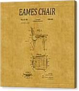 Eames Chair Patent 1 Canvas Print