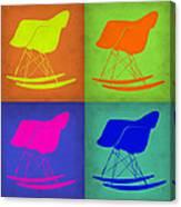 Eames Rocking Chair Pop Art 1 Canvas Print
