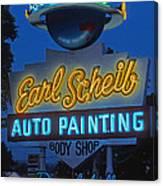 Earl Scheib Neon Bev Hills-1 Canvas Print