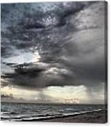 Early Am Storm At The Beach Canvas Print