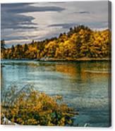 Early Autumn Along The Androscoggin River Canvas Print