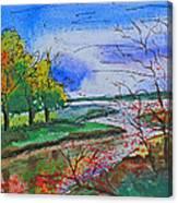 Early Autumn Landscape Canvas Print