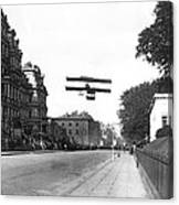 Early Biplane Flight Canvas Print
