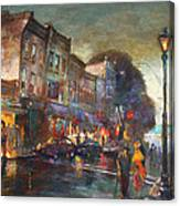 Early Evening In Main Street Nyack Canvas Print