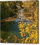 Early Fall On The Navasota Canvas Print