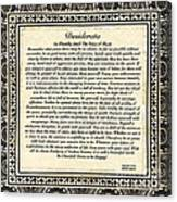 Early Gothic Style Desiderata Canvas Print