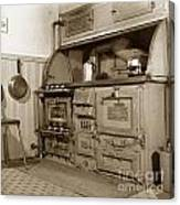 Early Kitchen With A Gas Stove 1920 Canvas Print