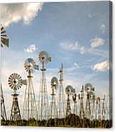 Early Model Wind Farm Canvas Print