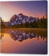 Early Morning At Picture Lake Canvas Print