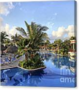 Early Morning At The Pool Canvas Print