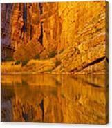 Early Morning Canyon Reflection Canvas Print