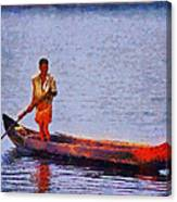 Early Morning Fishing In India Canvas Print