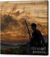 Early Morning Picket Duty Union Soldier Canvas Print