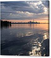 Early Morning Reflections - Lake Ontario And Downtown Toronto Skyline  Canvas Print