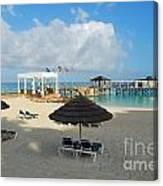 Early Morning Shade On A Tropical Beach   Canvas Print