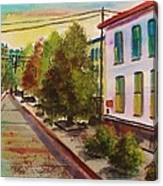 Early Morning Side Street  Canvas Print