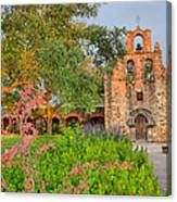 Early Morning Sun Caressing Mission Espada Canvas Print