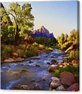 Early Morning Sunrise Zion N.p. Canvas Print