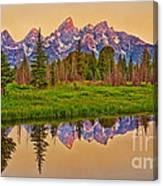 Early Morning Warmth At The Tetons  Canvas Print