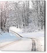 Early Morning Winter Road Canvas Print