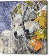Early Snowfall Canvas Print